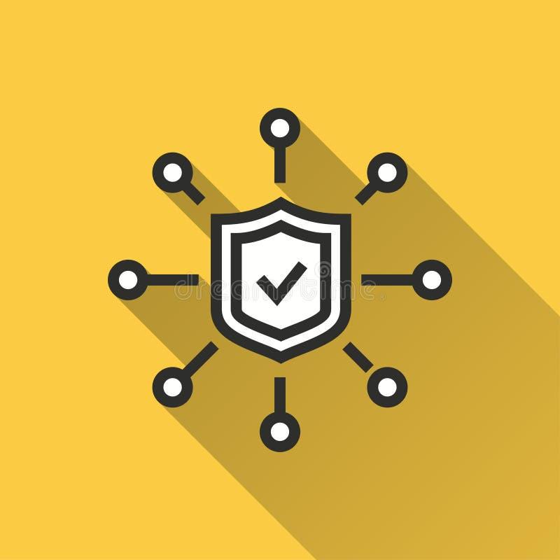 Acceso asegurado - icono del vector para el gráfico y el diseño web libre illustration