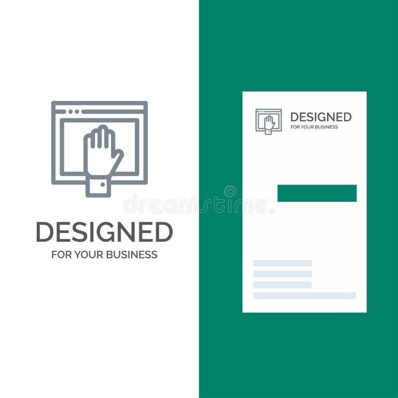 Acceso, contenido, libre, Internet, Grey Logo Design abierto y plantilla de la tarjeta de visita stock de ilustración
