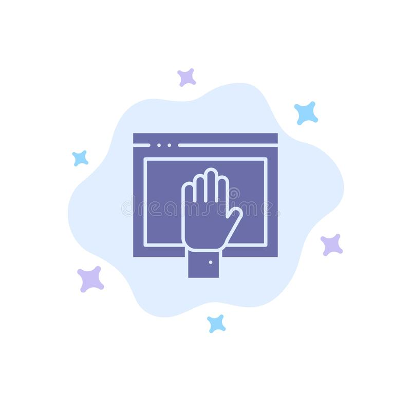 Acceso, contenido, libre, Internet, icono azul abierto en fondo abstracto de la nube libre illustration
