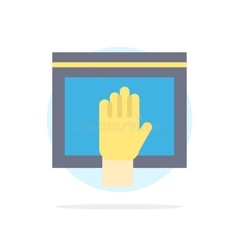 Acceso, contenido, libre, Internet, icono plano del color de fondo abstracto abierto del círculo ilustración del vector