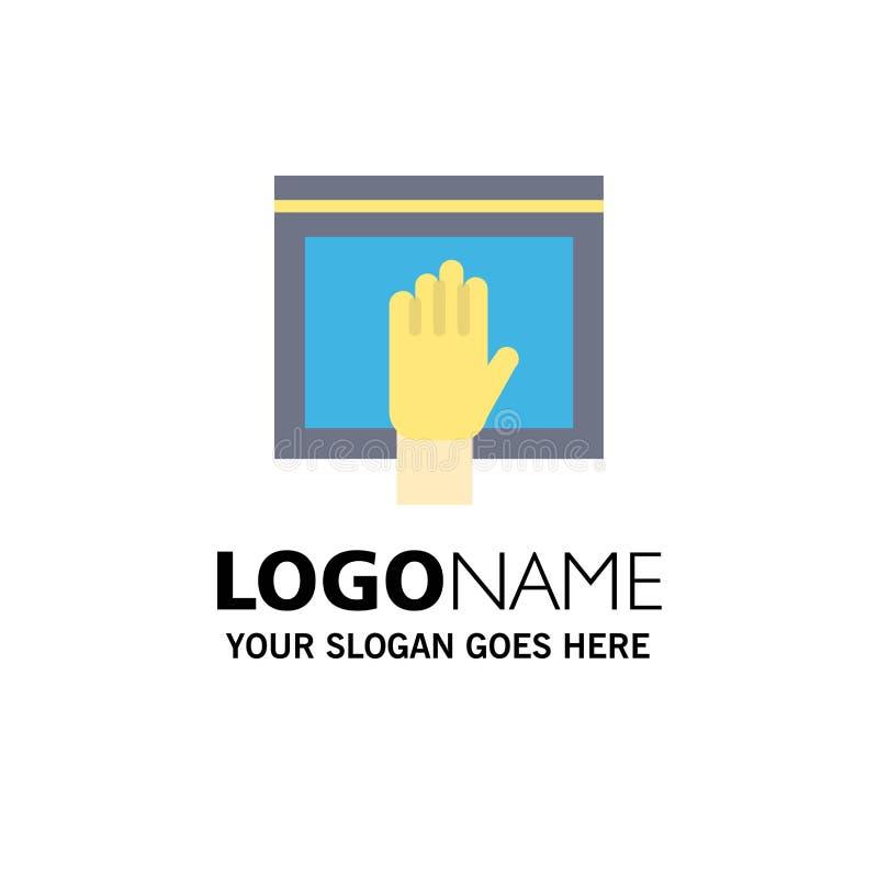 Acceso, contenido, libre, Internet, negocio abierto Logo Template color plano ilustración del vector