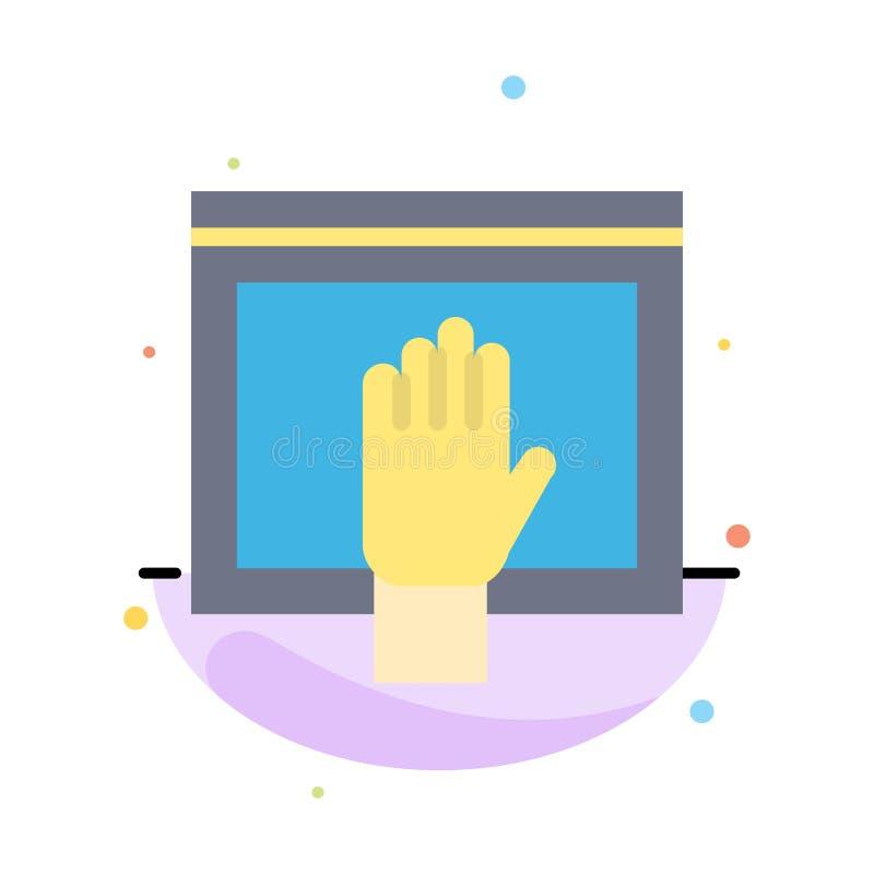Acceso, contenido, libre, Internet, plantilla plana abstracta abierta del icono del color libre illustration