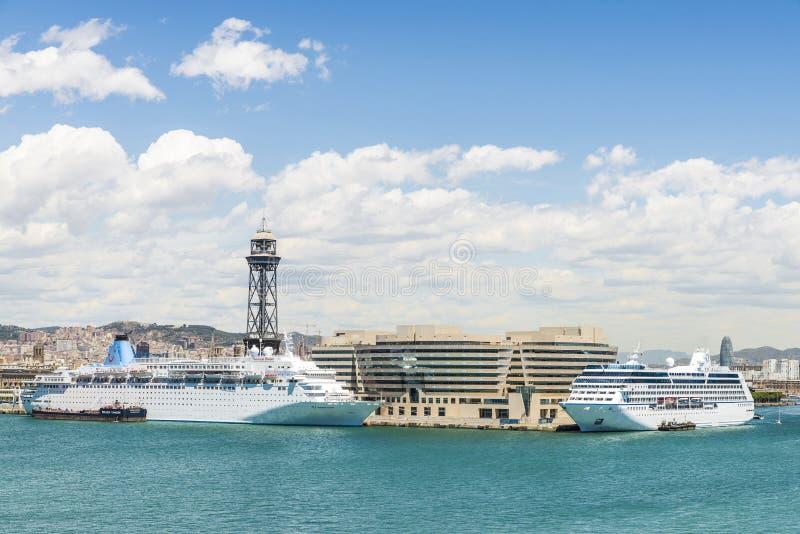 Acceso de Barcelona imagen de archivo
