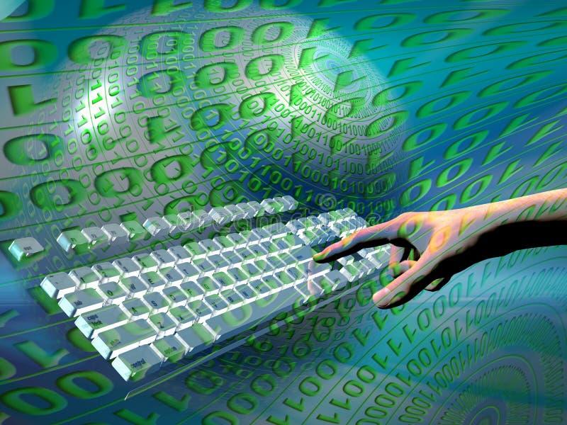 Acceso de Internet, teclado stock de ilustración