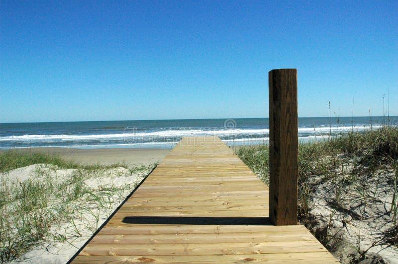 Acceso de la playa del pilar fotos de archivo libres de regalías