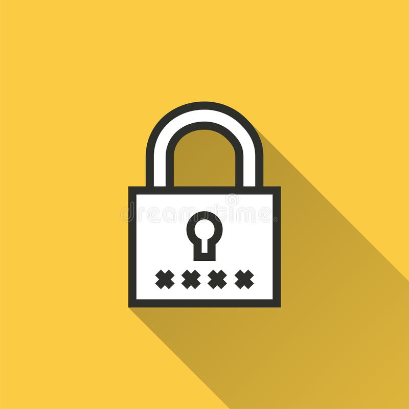 Acceso de la seguridad - icono del vector para el gráfico y el diseño web ilustración del vector