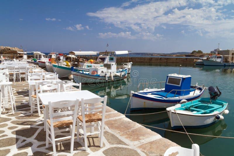 Acceso de Naoussa, isla de Paros, Grecia fotografía de archivo libre de regalías