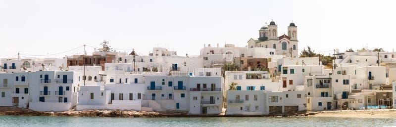 Acceso de Naoussa, isla de Paros, Grecia fotografía de archivo