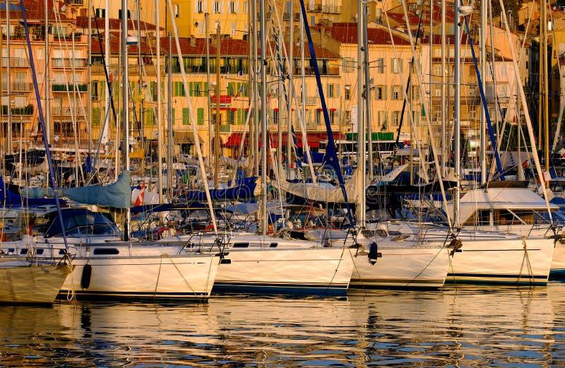 Acceso de Vieux, Cannes, Francia fotografía de archivo