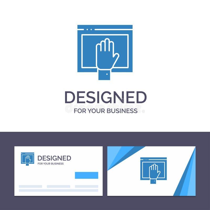 Acceso de visita de la plantilla creativa de la tarjeta y del logotipo, contenido, libre, Internet, ejemplo abierto del vector ilustración del vector