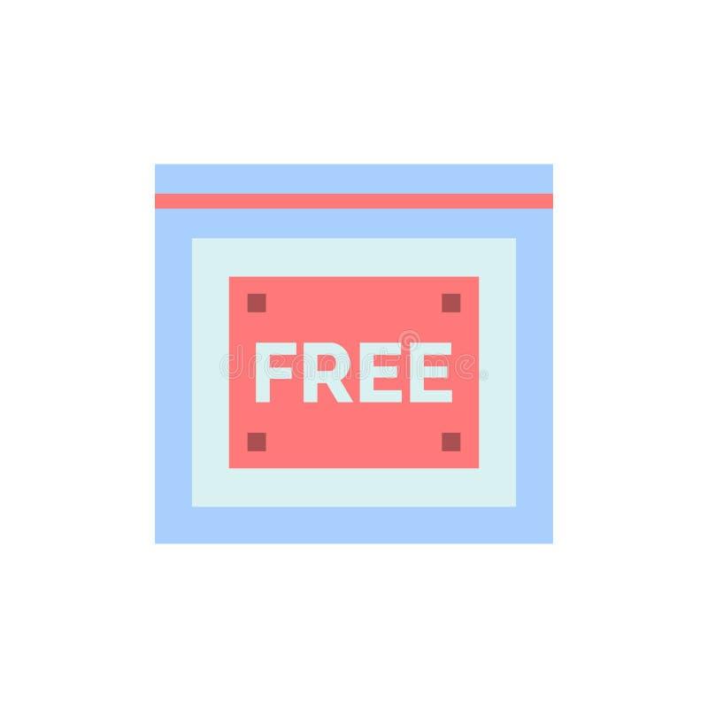Acceso libre, Internet, tecnología, icono plano libre del color Plantilla de la bandera del icono del vector libre illustration
