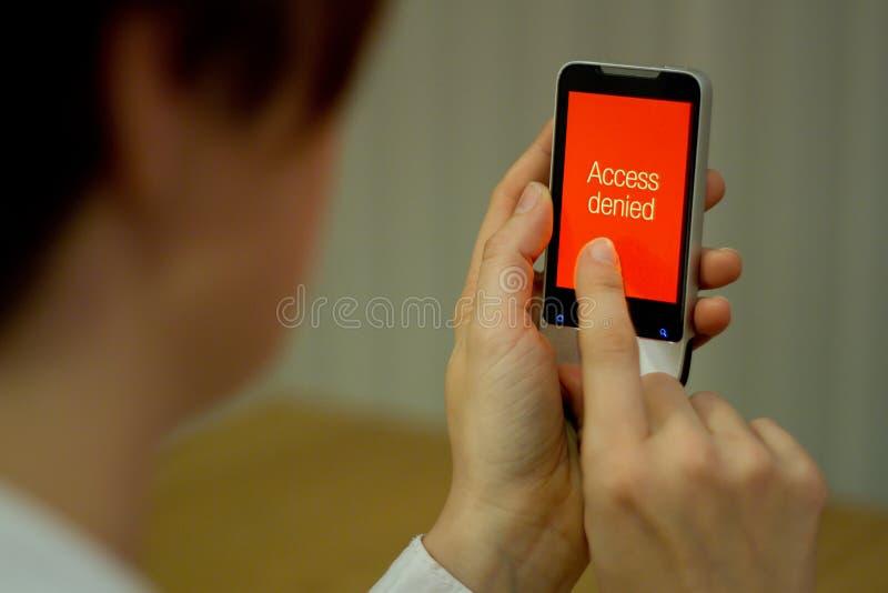 Acceso negado fotos de archivo libres de regalías