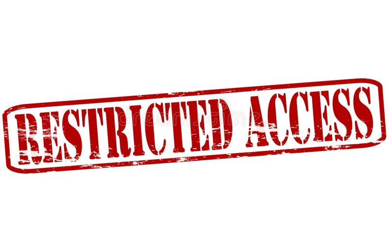 Acceso restricto stock de ilustración