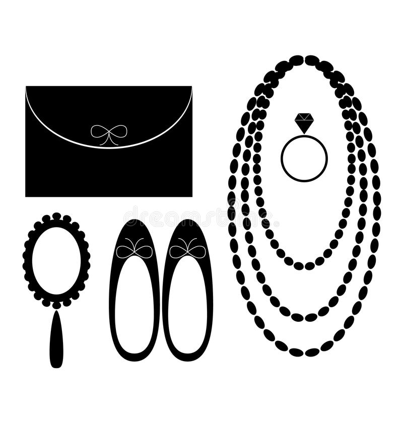 Accesories for women royalty free illustration