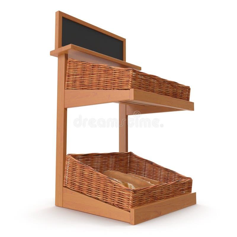 Accesorio de rejilla del estante de la panadería de la rota en blanco ilustración 3D imagen de archivo libre de regalías