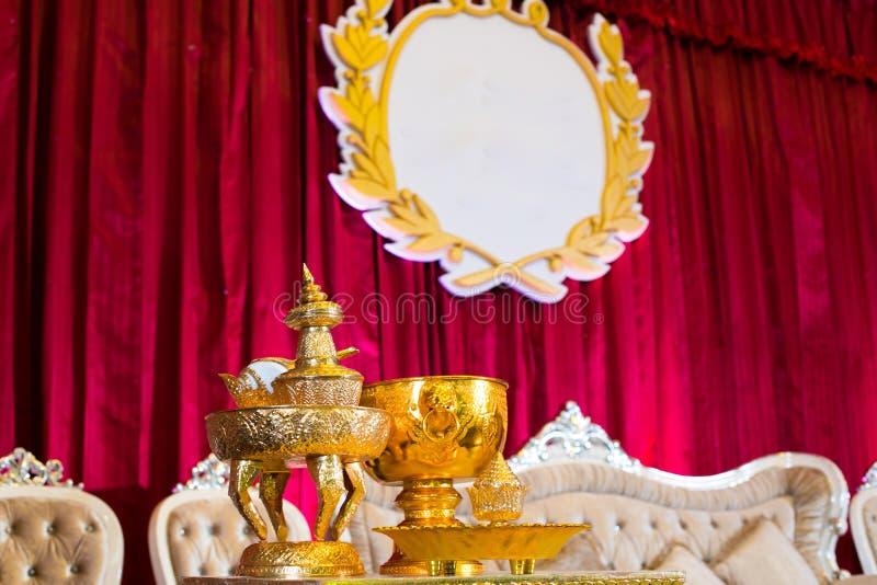 Accesorio tailandés de la boda fotografía de archivo