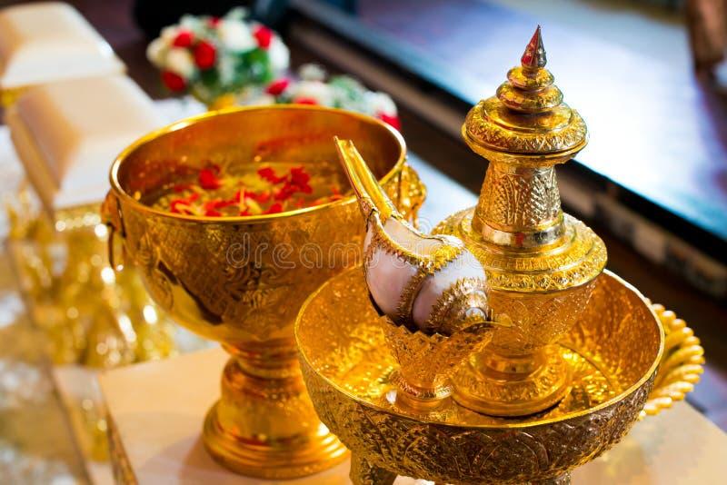 Accesorio tailandés de la boda en la boda fotografía de archivo libre de regalías