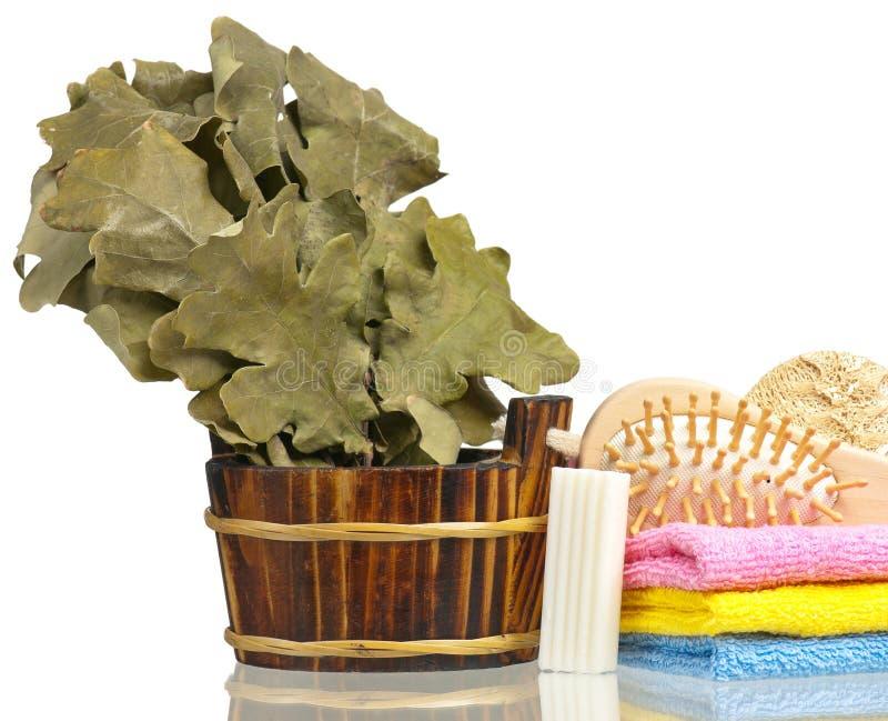 Accesorios de baño frescos imagen de archivo