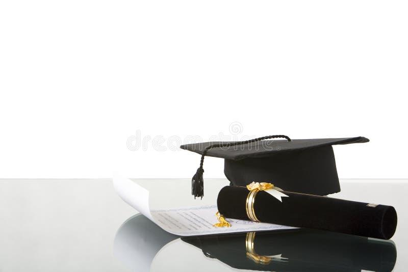 Accesorios de la graduación en  imagenes de archivo