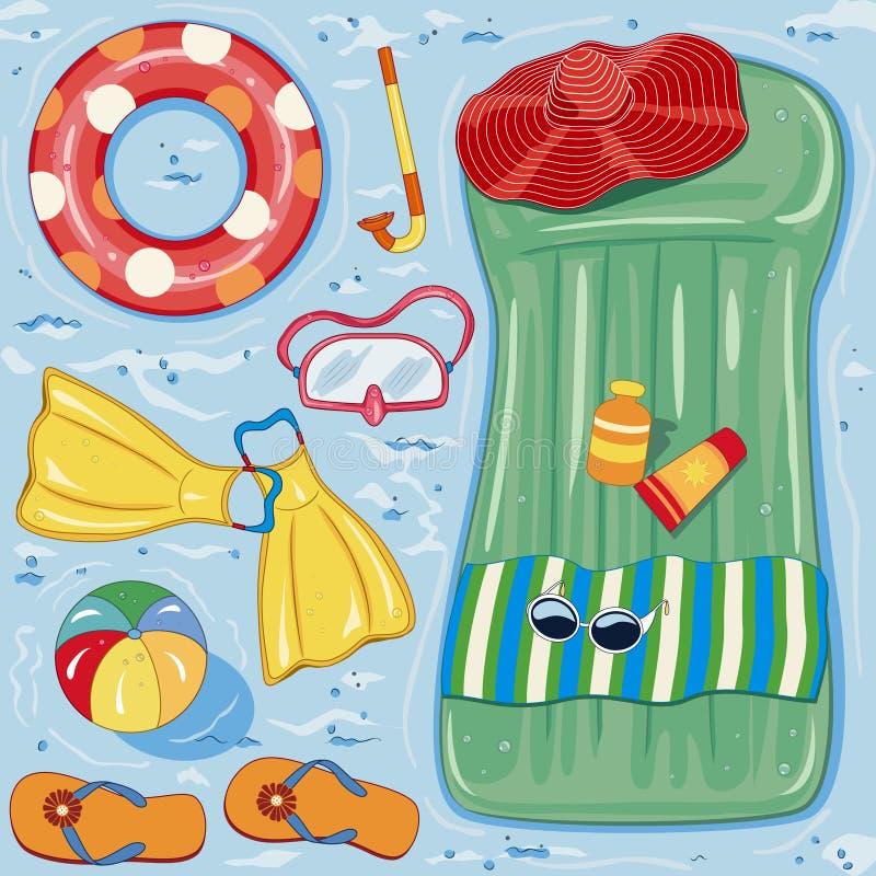 Accesorios de la playa libre illustration