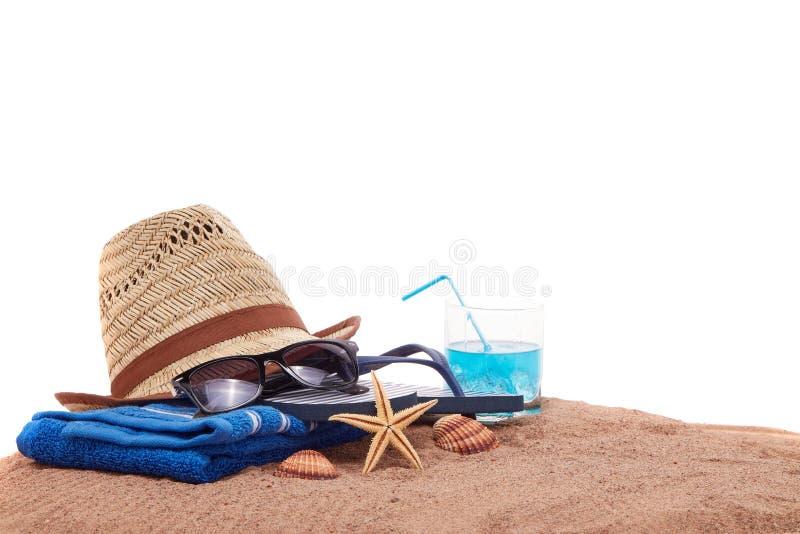 Accesorios de la playa, vacaciones del mar fotografía de archivo