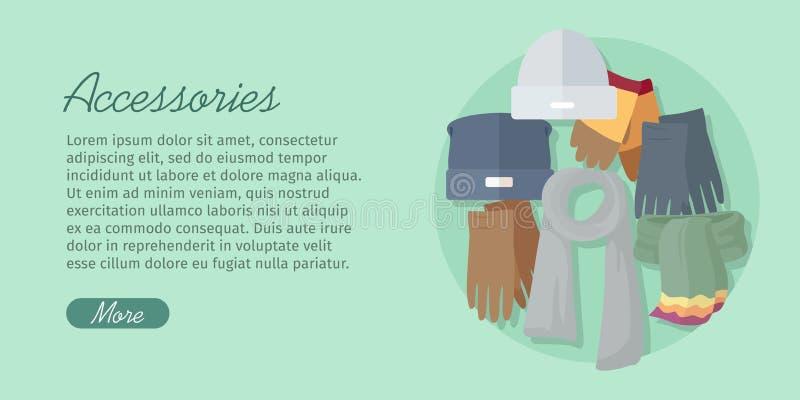 Accesorios de los hombres s Bolsos, zapatos, sombreros y bufandas libre illustration