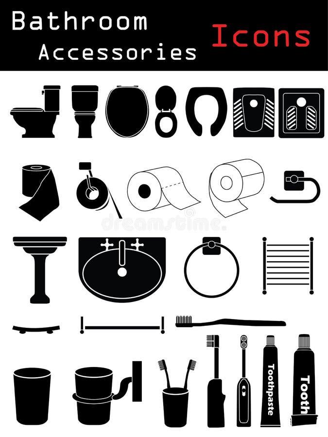 Accesorios del cuarto de baño libre illustration