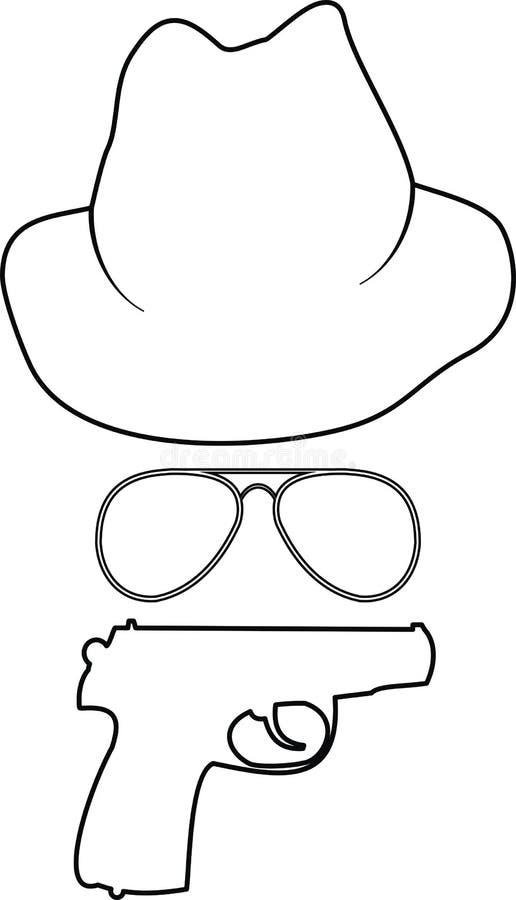 Accesorios del espía libre illustration