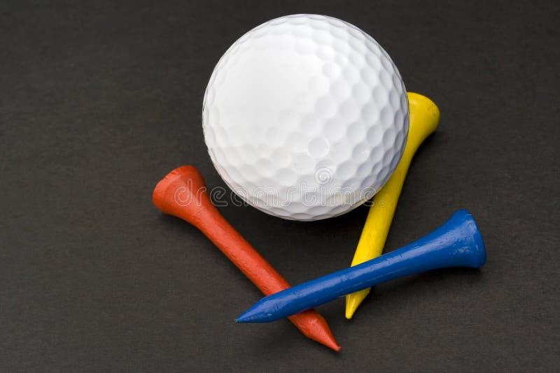Accesorios del golf imagenes de archivo