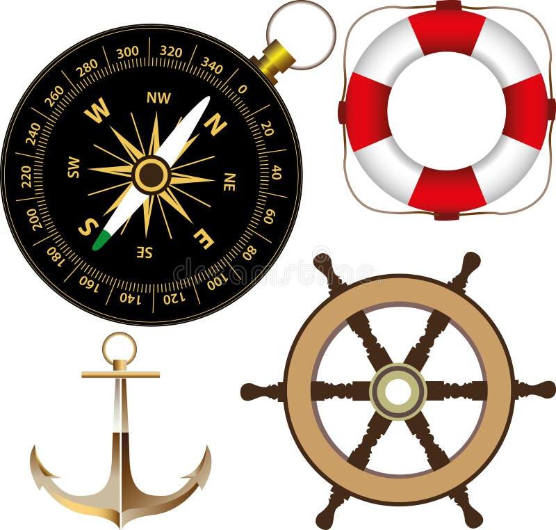Accesorios marinos libre illustration