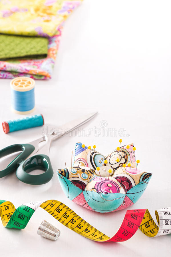 Accesorios para coser imagenes de archivo