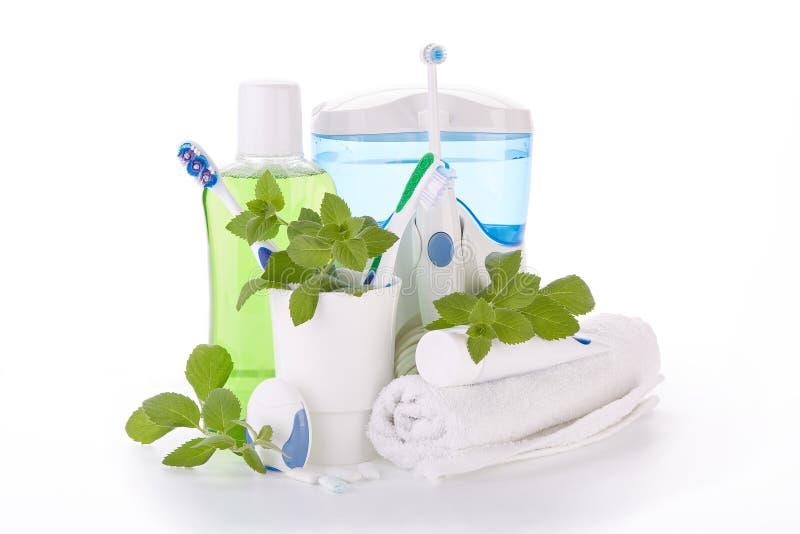 Accesorios para limpiar de dientes Higiene oral fotografía de archivo libre de regalías