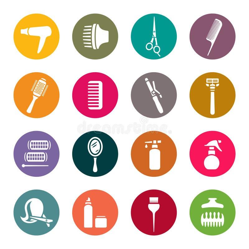 Accesorios para los iconos del salón de pelo libre illustration