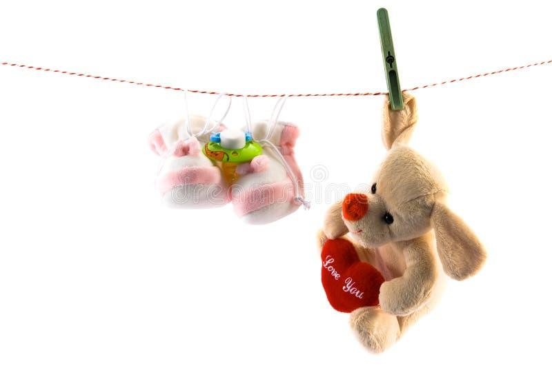 Accesorries do bebê imagem de stock