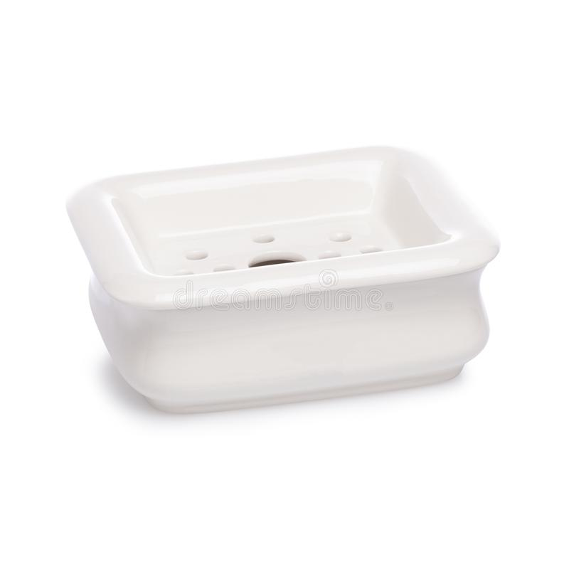 accesory卫生间的肥皂 在空白背景 免版税库存图片
