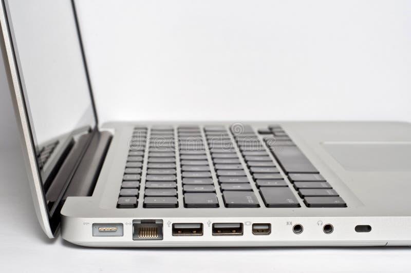 Accesos de la potencia de la computadora portátil fotos de archivo