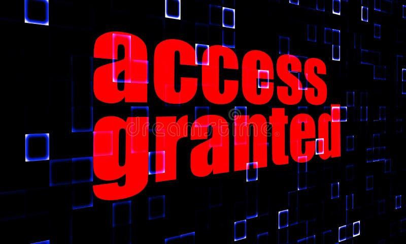 Access a accordé sur le fond numérique illustration de vecteur