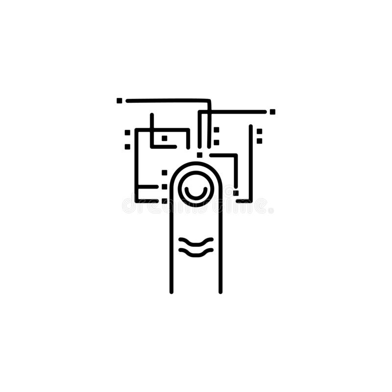 access, authentication, biometric, digital icon. Element of future pack for mobile concept and web apps icon. Thin line icon for stock illustration