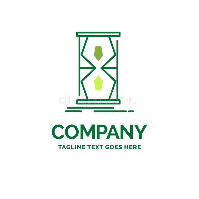 Access, clock, early, sand clock, time Flat Business Logo templa stock photography