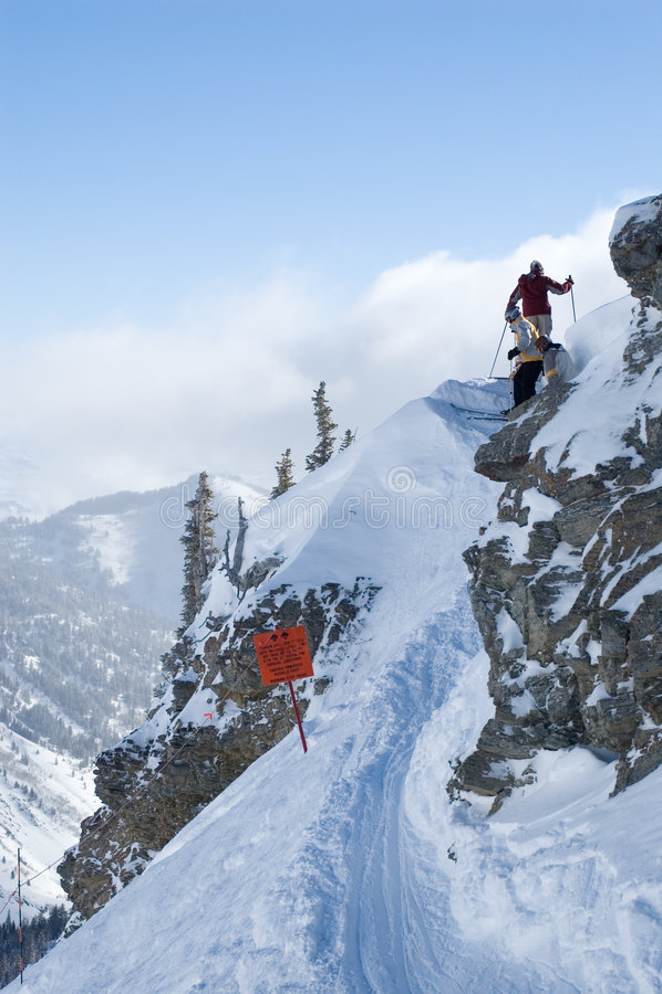 access den backcountry skidåkningtrailen arkivfoton