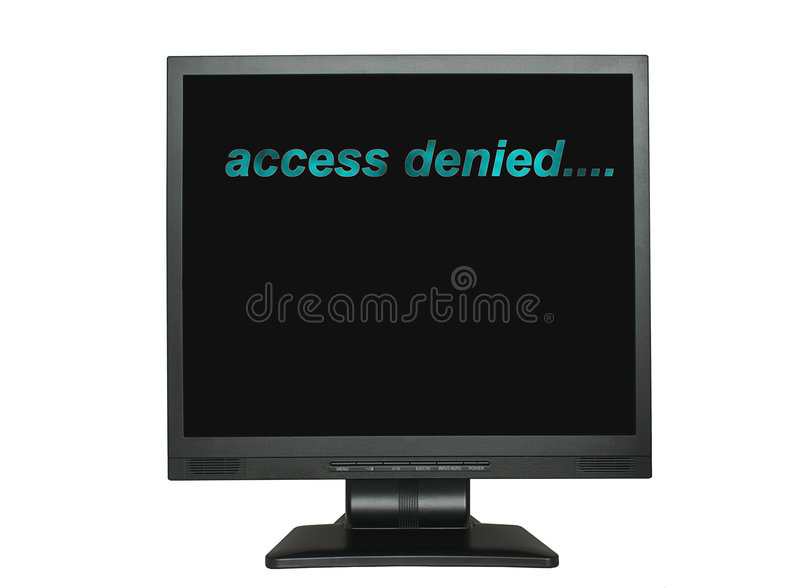 Access denied. Lcd screen with access denied inscription royalty free stock photo