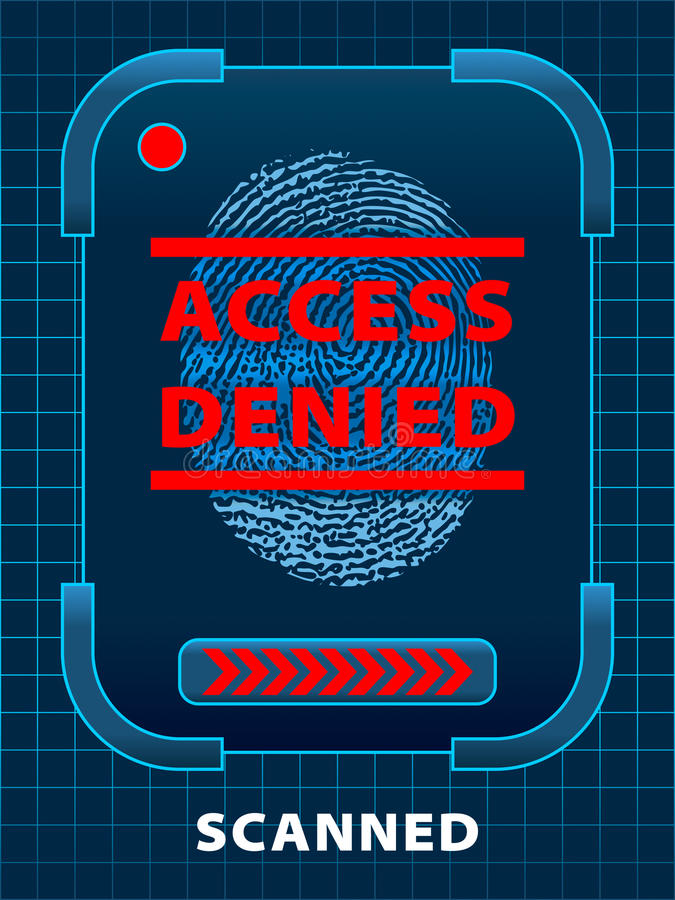 Access Denied vector illustration