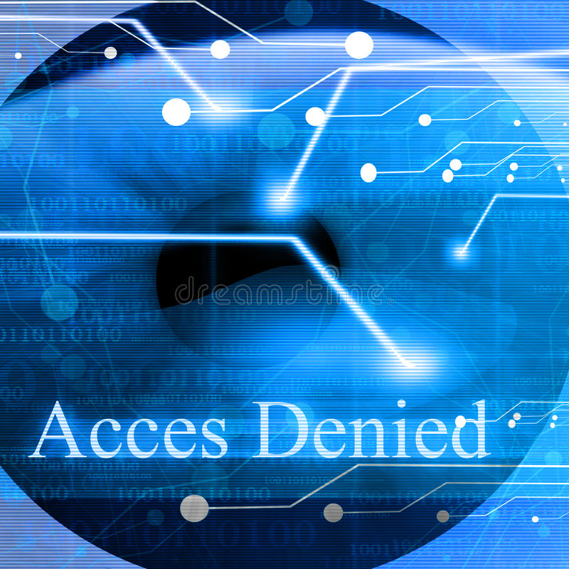 Download Access Denied After Eye Scan Stock Illustration - Image: 4815573