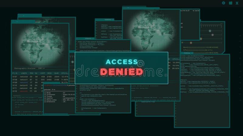 Access Denied Computer Screen Stock Illustration ...