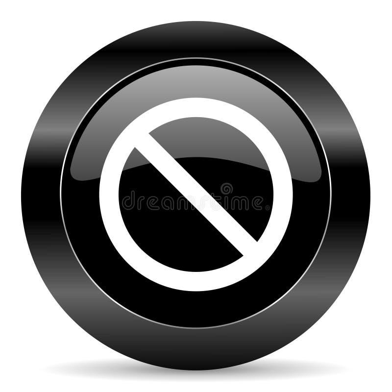 Access denied icon. Black circle web button on white background royalty free stock photo