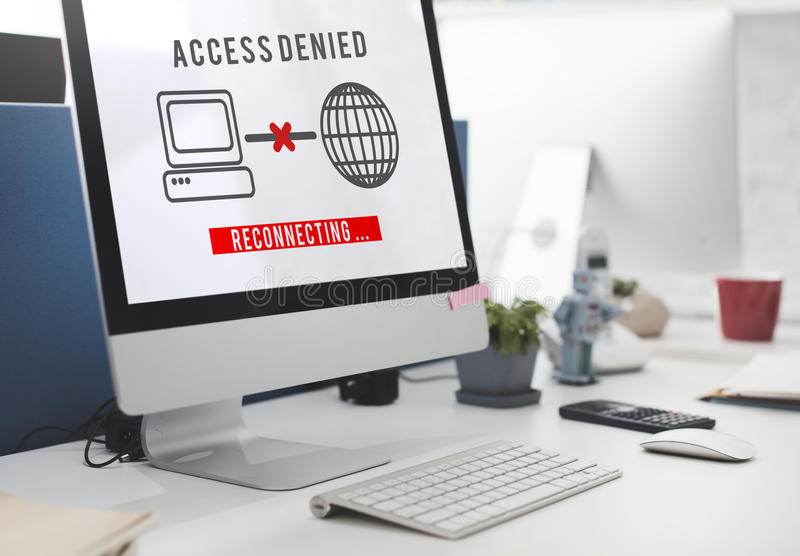 Access Denied Password Protection Safety System Concept. Access Denied Password Protection Safety System royalty free stock photos