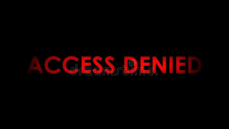 Access denied red message text stock illustration