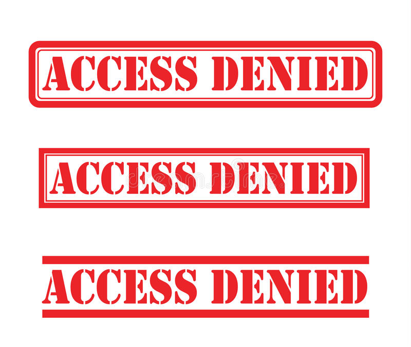 Access denied stamp stock photography