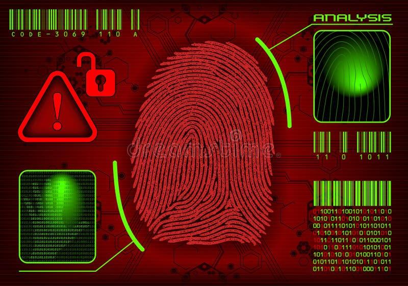 access fingeravtrycket stock illustrationer