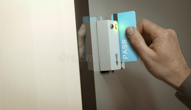 Access fissato, passaggio del membro illustrazione vettoriale